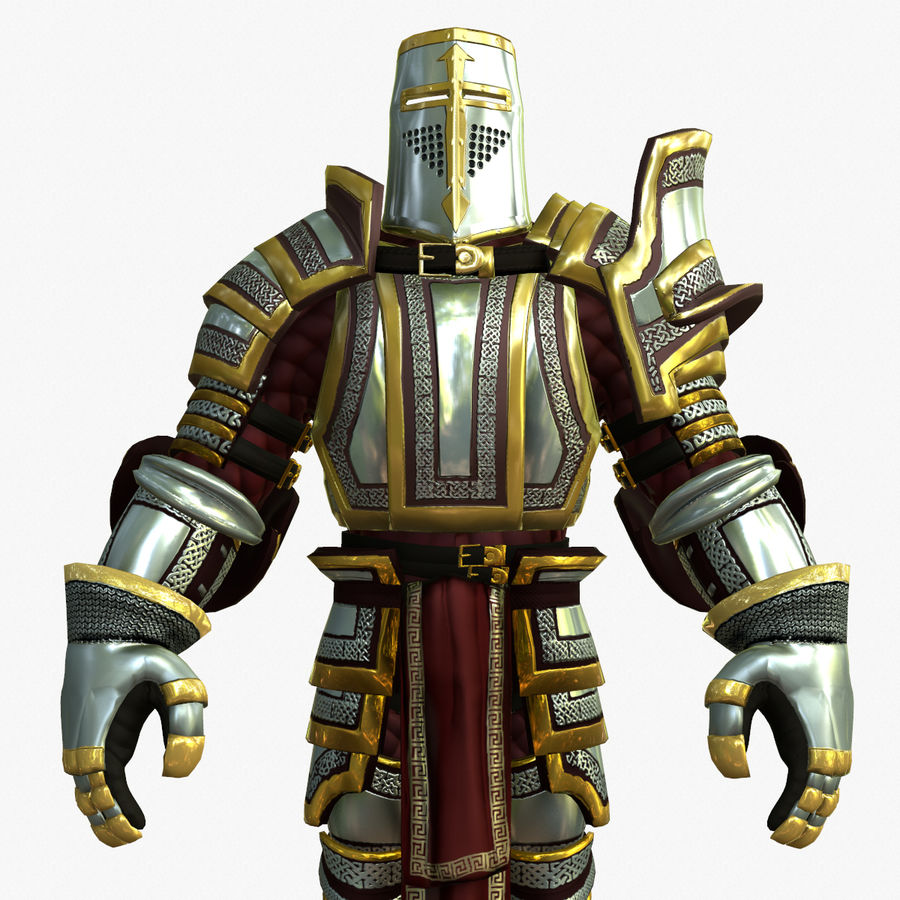 Game Knights (Series A) K2b royalty-free 3d model - Preview no. 11