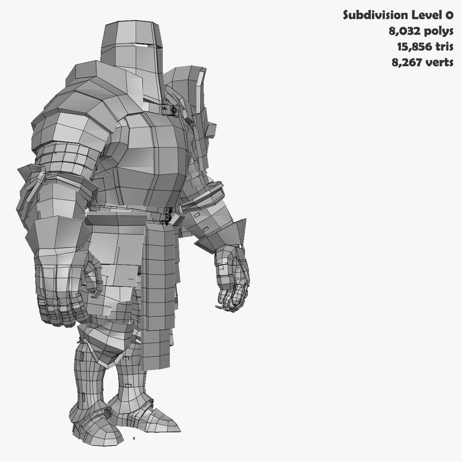 Game Knights (Series A) K2b royalty-free 3d model - Preview no. 33