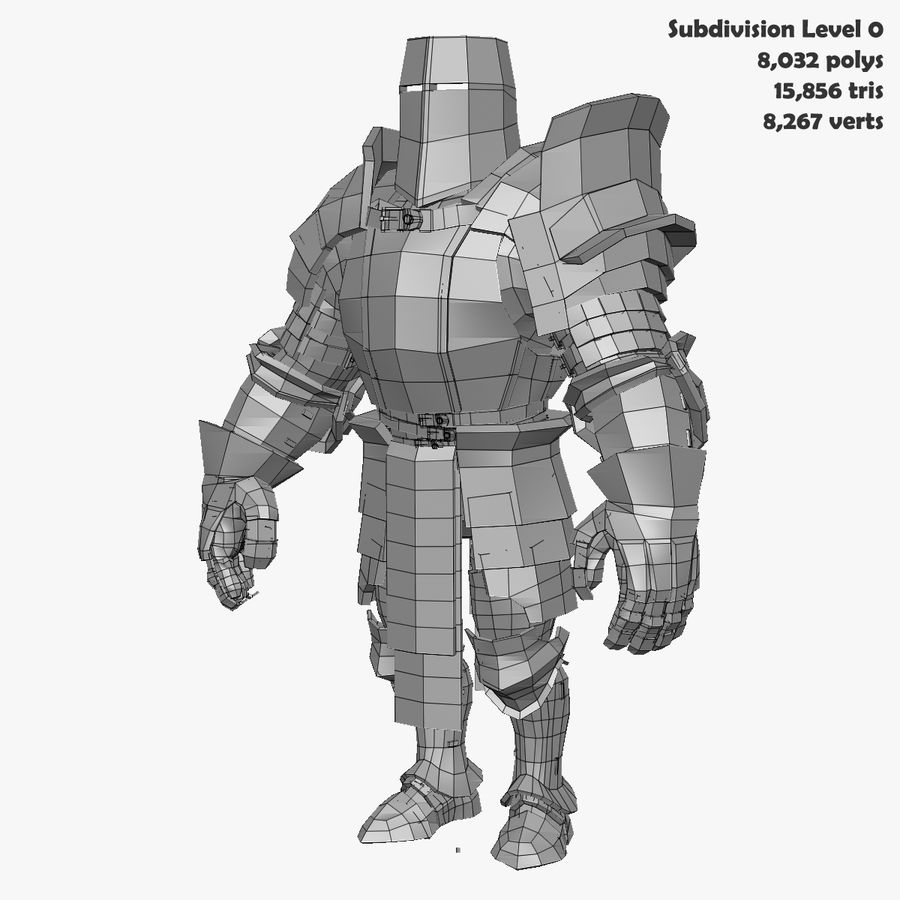 Game Knights (Series A) K2b royalty-free 3d model - Preview no. 28