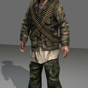 Soldado afgano en tiempo real modelo 3d