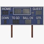 Tableau de bord de football 3d model