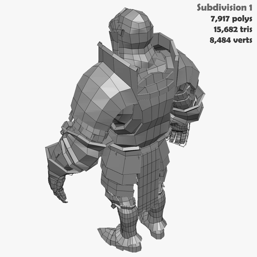 Game Knights (Series A) K1a royalty-free 3d model - Preview no. 38