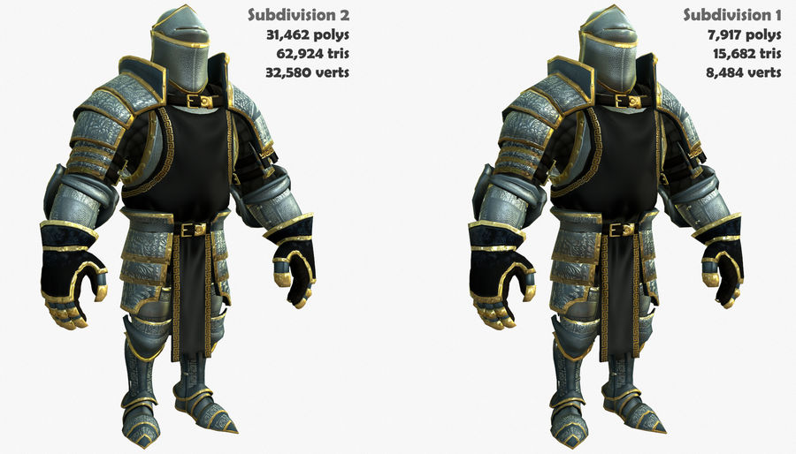 Game Knights (Series A) K1a royalty-free 3d model - Preview no. 2