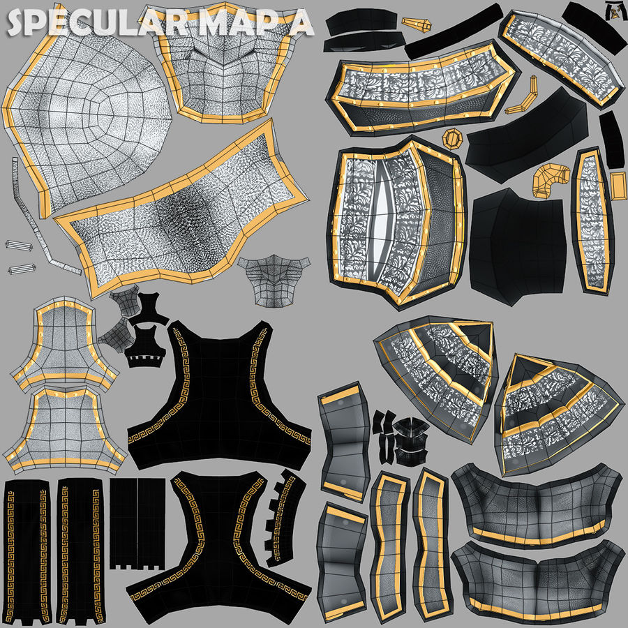 Game Knights (Series A) K1a royalty-free 3d model - Preview no. 30