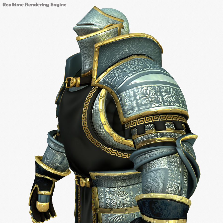 Game Knights (Series A) K1a royalty-free 3d model - Preview no. 9
