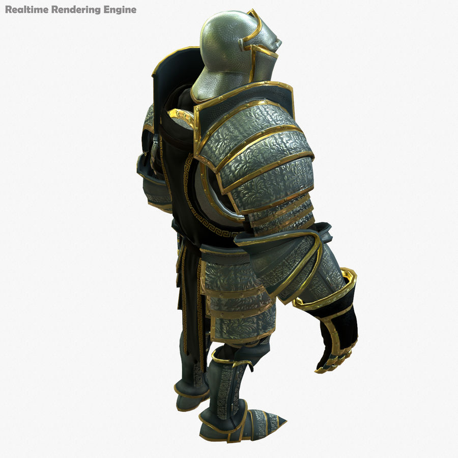 Game Knights (Series A) K1a royalty-free 3d model - Preview no. 3