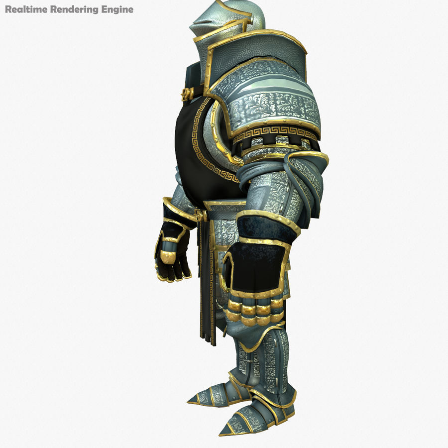 Game Knights (Series A) K1a royalty-free 3d model - Preview no. 8