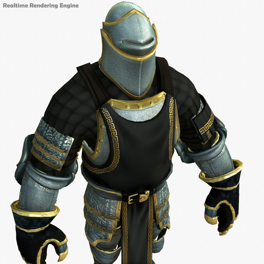 Game Knights (Series A) K1a royalty-free 3d model - Preview no. 26
