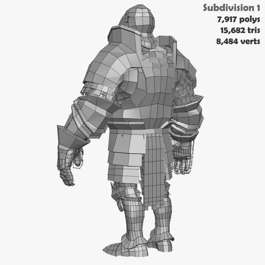 Game Knights (Series A) K1a royalty-free 3d model - Preview no. 37