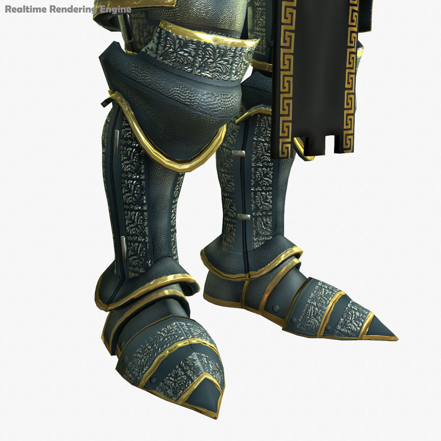 Game Knights (Series A) K1a royalty-free 3d model - Preview no. 16