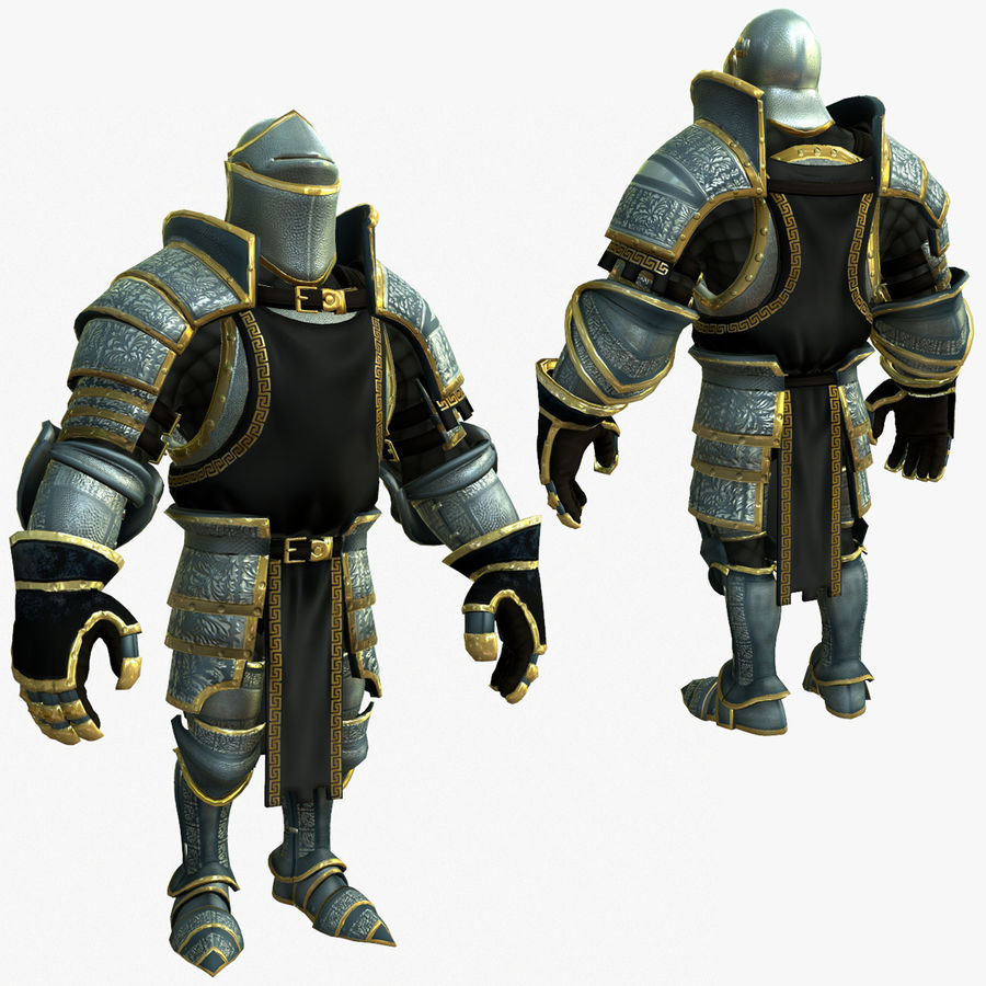 Game Knights (Series A) K1a royalty-free 3d model - Preview no. 1