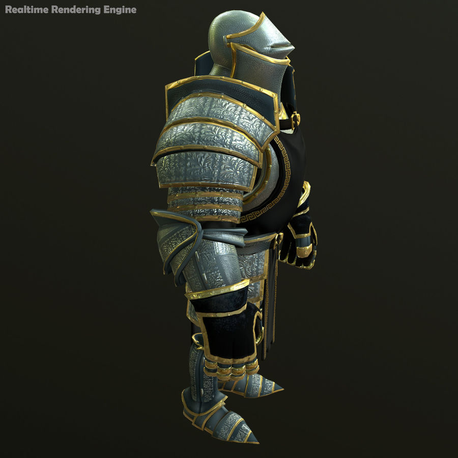 Game Knights (Series A) K1a royalty-free 3d model - Preview no. 21