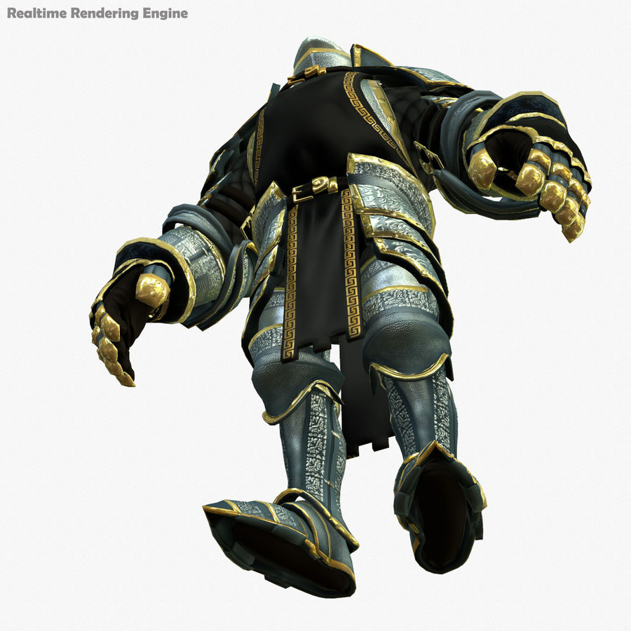 Game Knights (Series A) K1a royalty-free 3d model - Preview no. 14