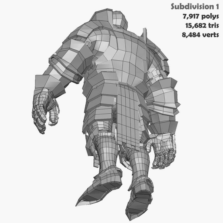 Game Knights (Series A) K1a royalty-free 3d model - Preview no. 39