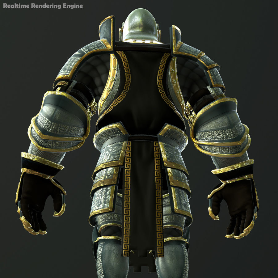 Game Knights (Series A) K1a royalty-free 3d model - Preview no. 19
