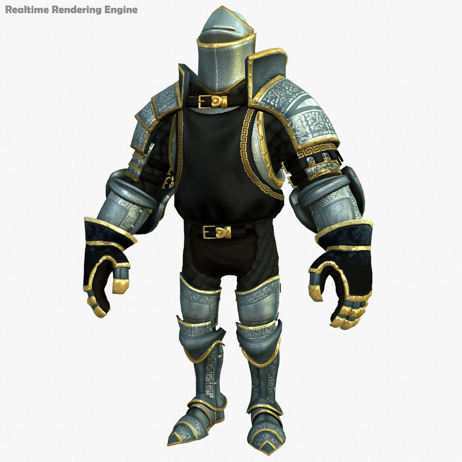 Game Knights (Series A) K1a royalty-free 3d model - Preview no. 23