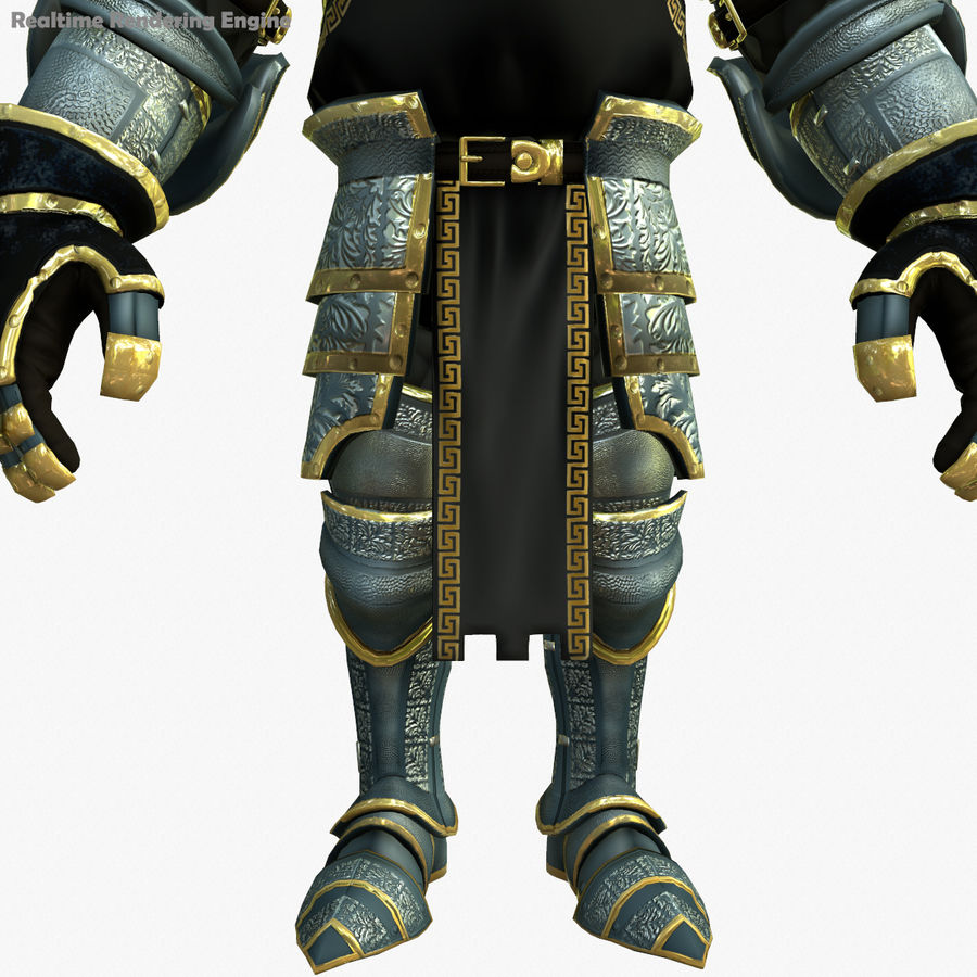 Game Knights (Series A) K1a royalty-free 3d model - Preview no. 12