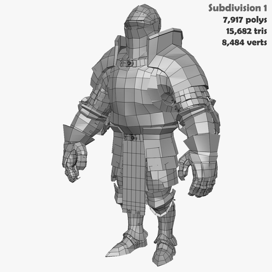 Game Knights (Series A) K1a royalty-free 3d model - Preview no. 36