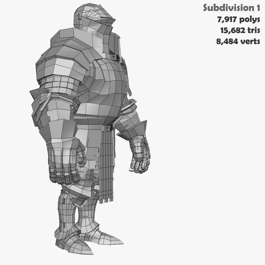 Game Knights (Series A) K1a royalty-free 3d model - Preview no. 41
