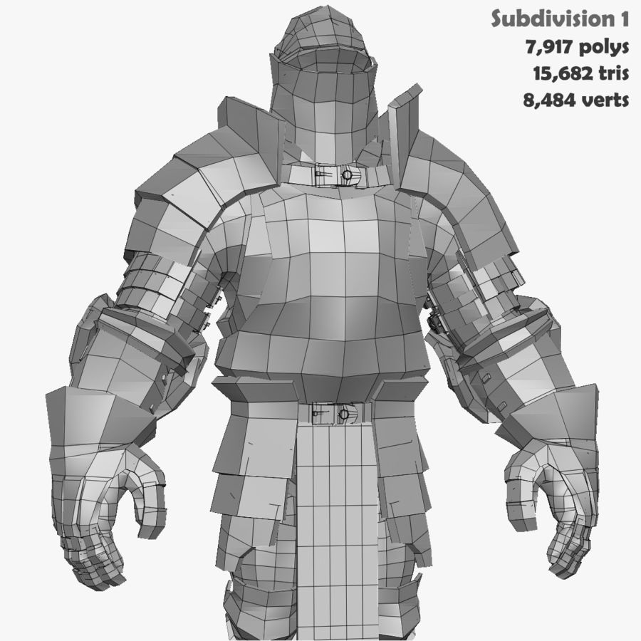 Game Knights (Series A) K1a royalty-free 3d model - Preview no. 40