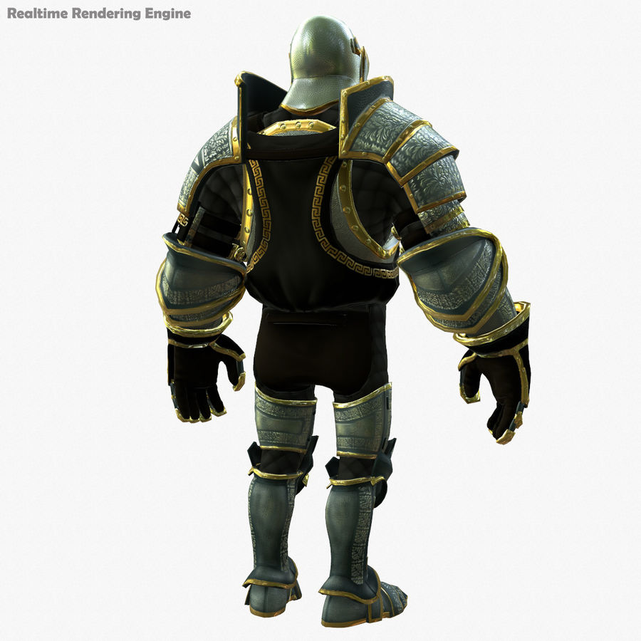 Game Knights (Series A) K1a royalty-free 3d model - Preview no. 24
