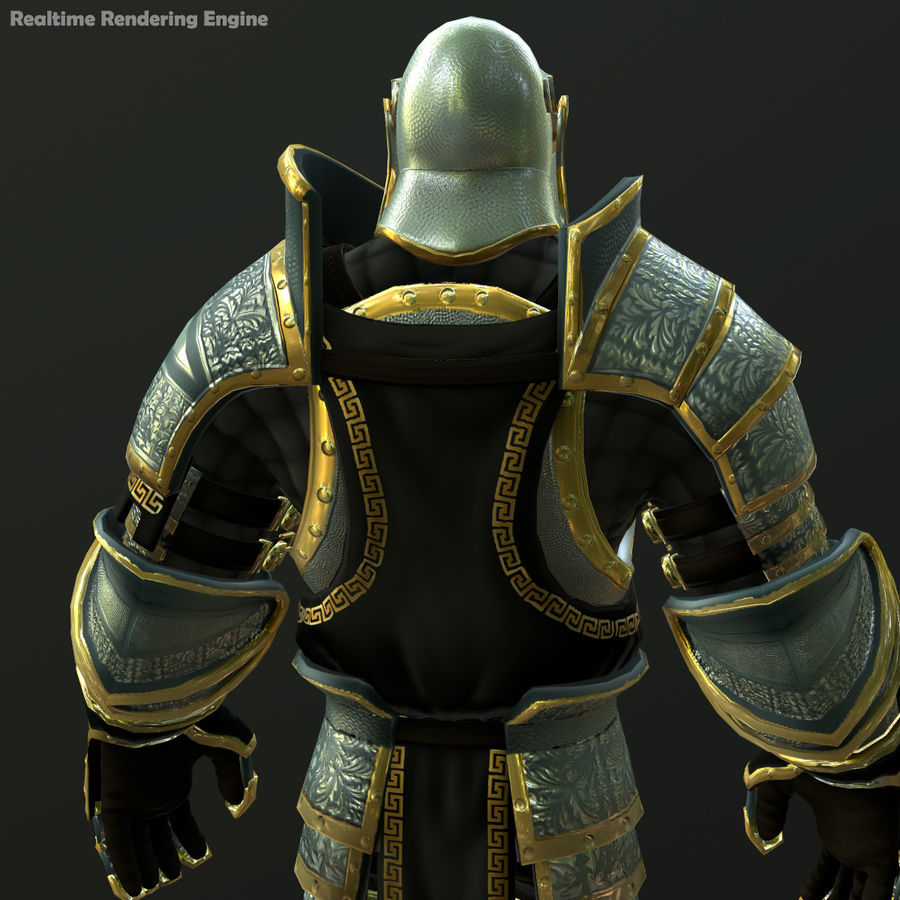 Game Knights (Series A) K1a royalty-free 3d model - Preview no. 18