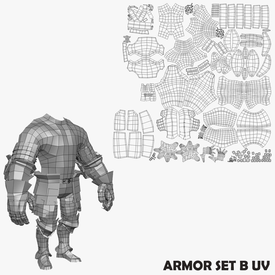 Game Knights (Series A) K1a royalty-free 3d model - Preview no. 35