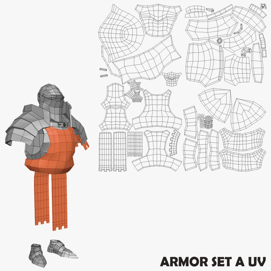 Game Knights (Series A) K1a royalty-free 3d model - Preview no. 34