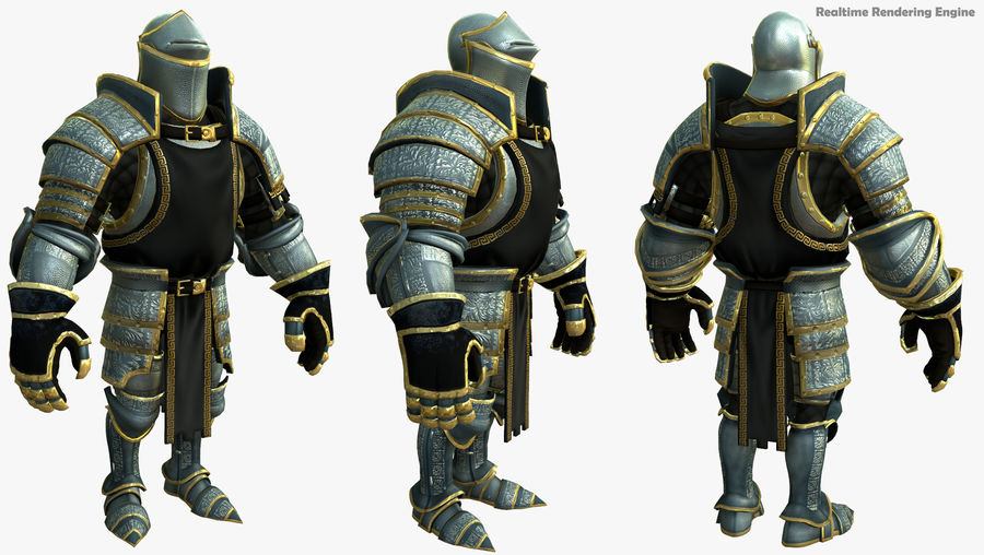 Game Knights (Series A) K1a royalty-free 3d model - Preview no. 27