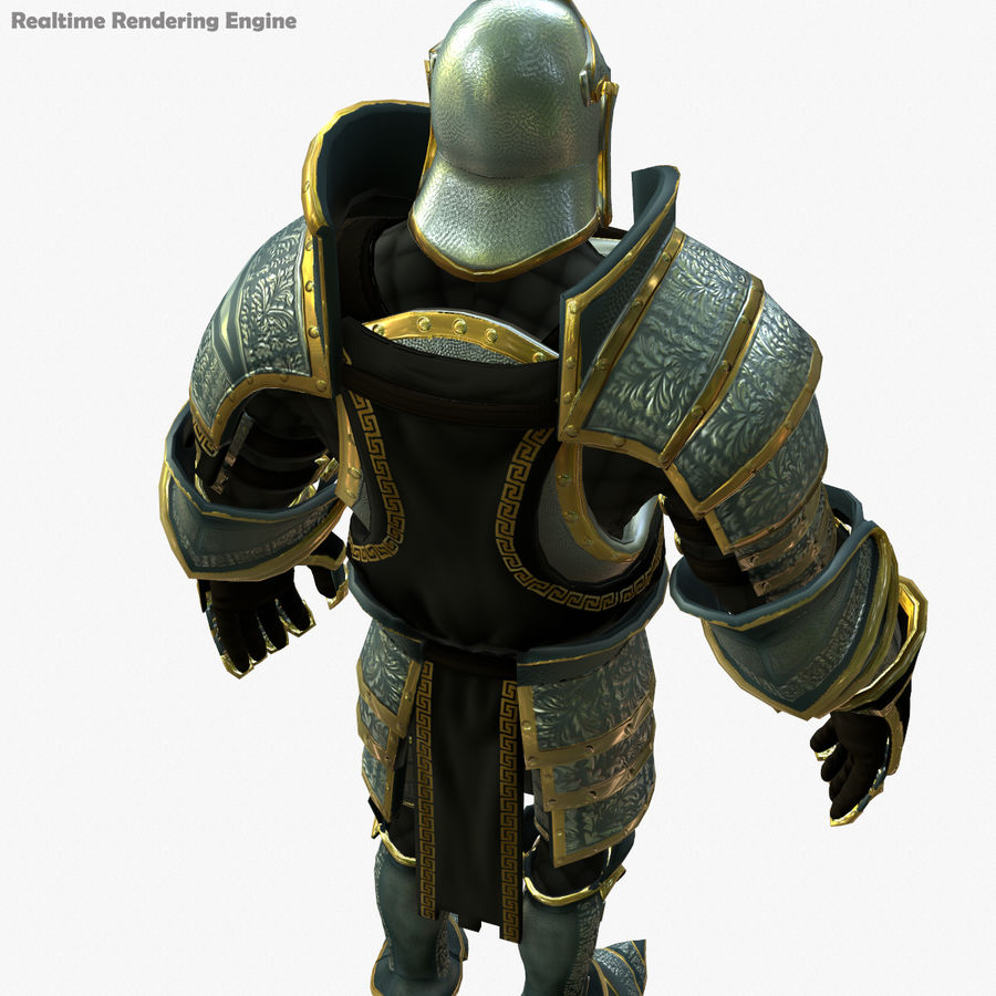 Game Knights (Series A) K1a royalty-free 3d model - Preview no. 4