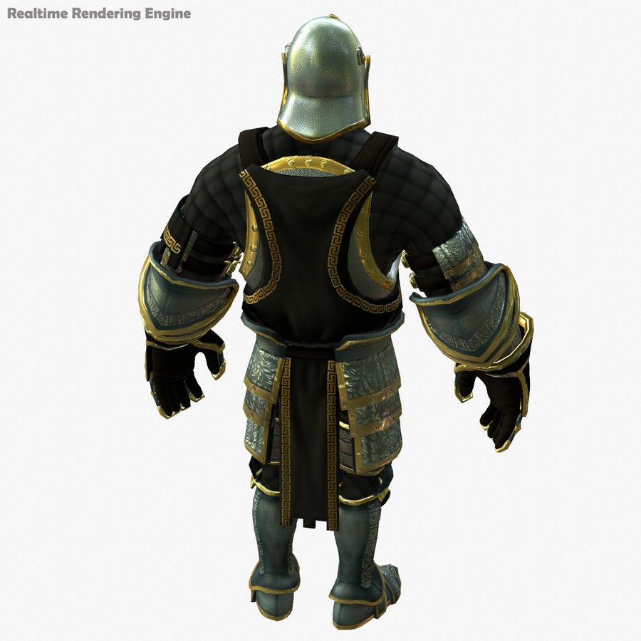 Game Knights (Series A) K1a royalty-free 3d model - Preview no. 25