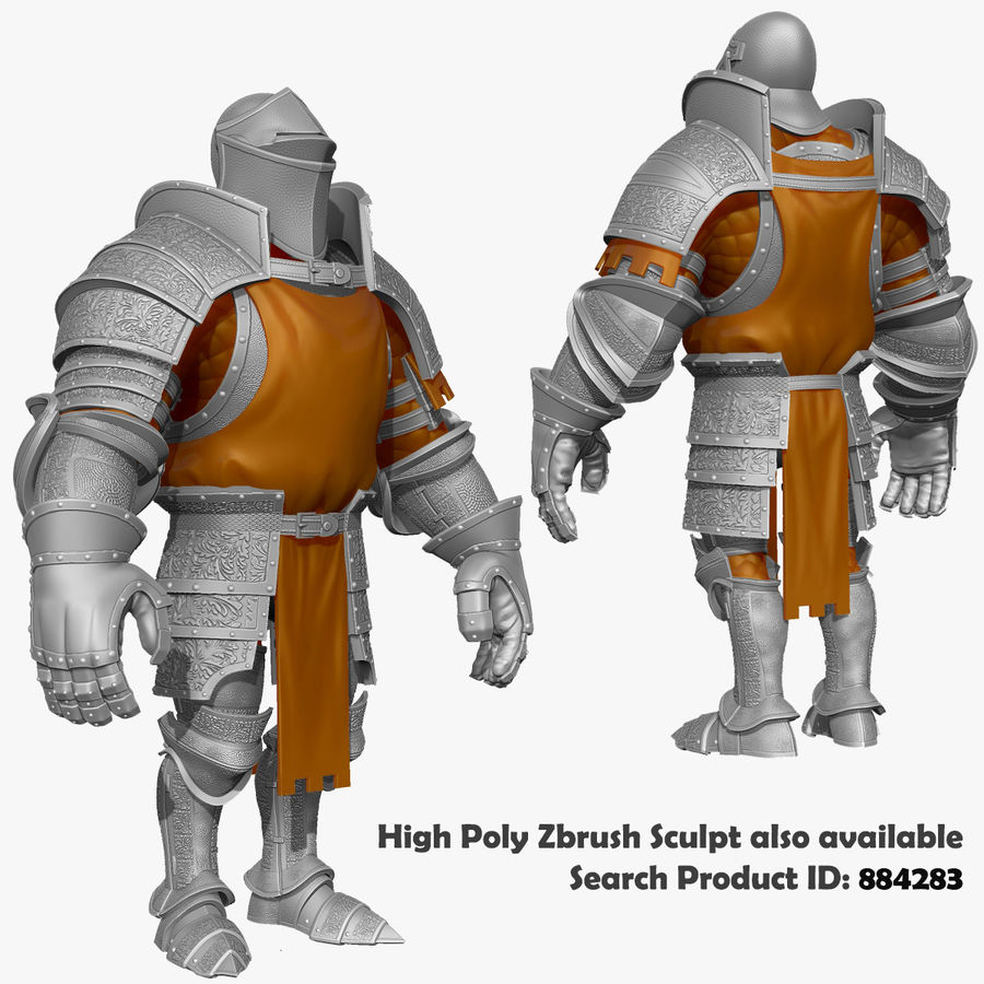 Game Knights (Series A) K1a royalty-free 3d model - Preview no. 42