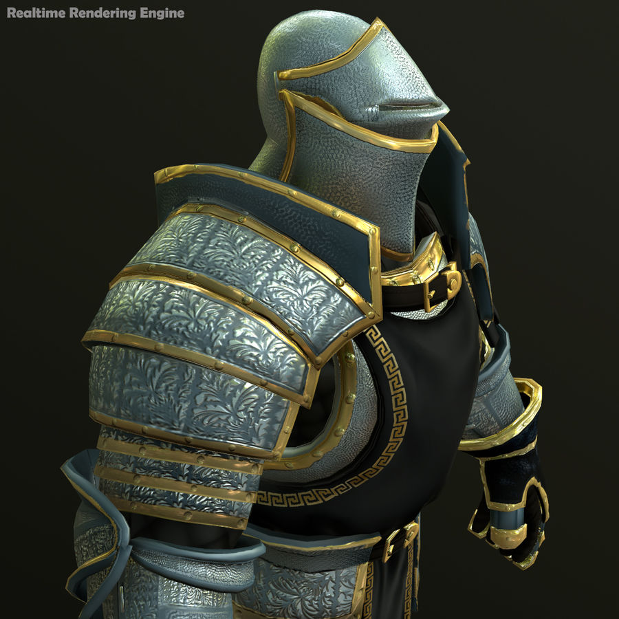 Game Knights (Series A) K1a royalty-free 3d model - Preview no. 22
