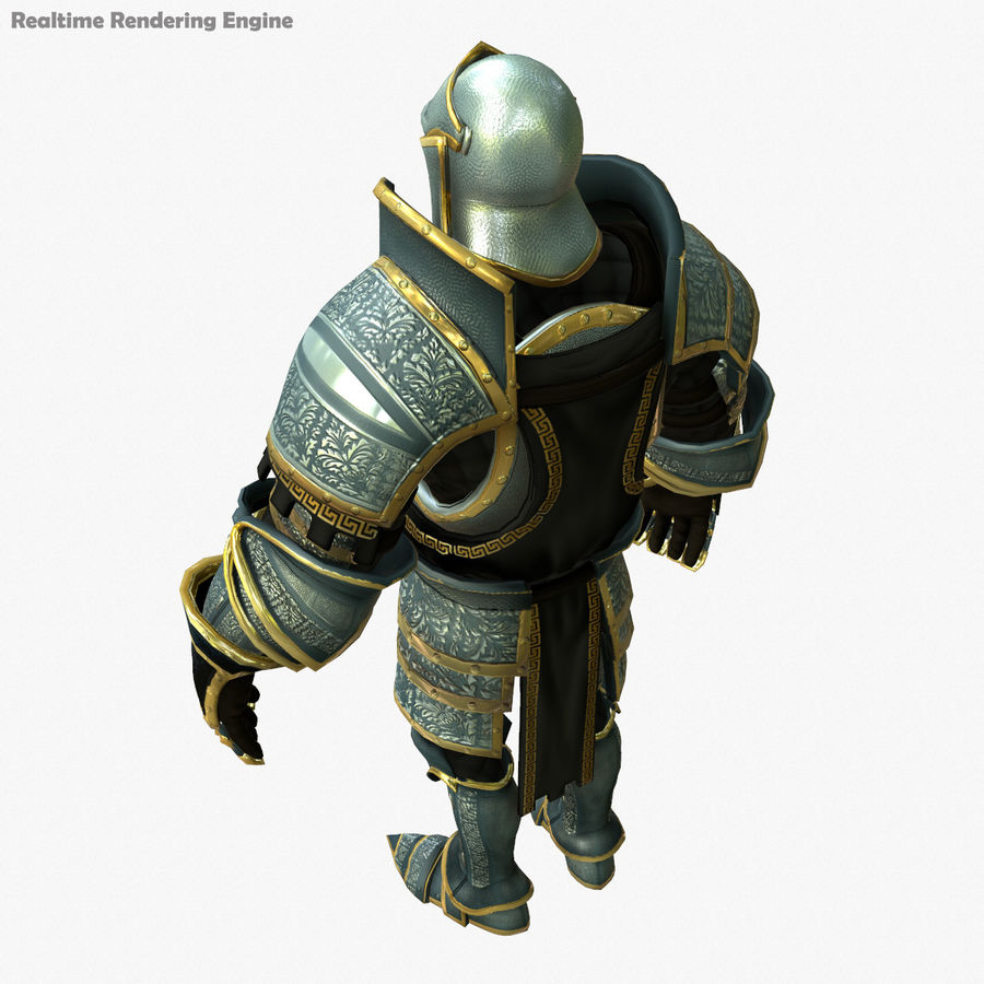 Game Knights (Series A) K1a royalty-free 3d model - Preview no. 15