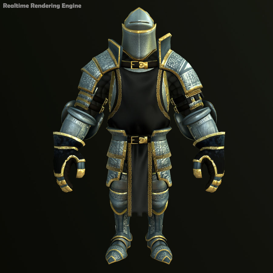 Game Knights (Series A) K1a royalty-free 3d model - Preview no. 20