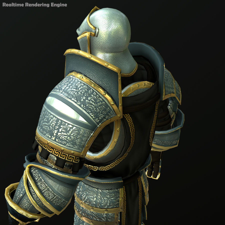 Game Knights (Series A) K1a royalty-free 3d model - Preview no. 17