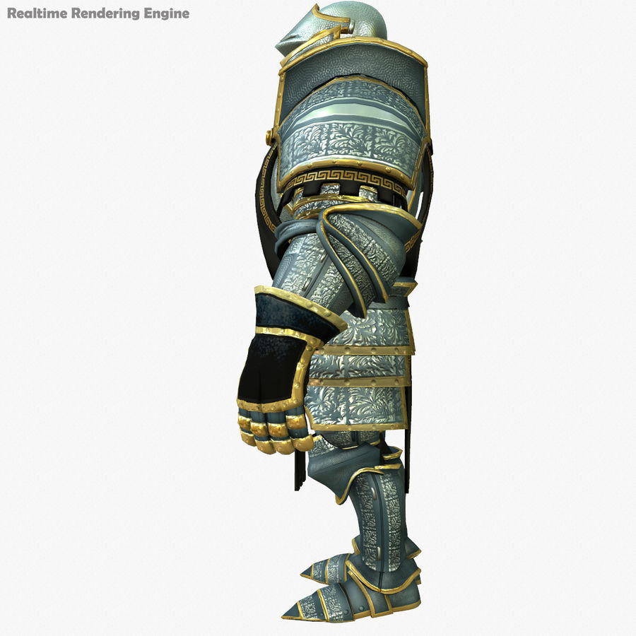 Game Knights (Series A) K1a royalty-free 3d model - Preview no. 7