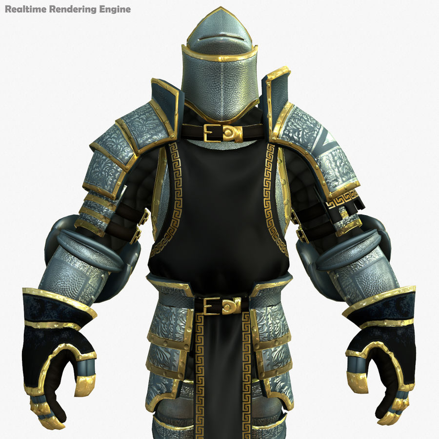 Game Knights (Series A) K1a royalty-free 3d model - Preview no. 11