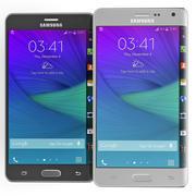 Samsung Galaxy Note Edge Siyah ve Beyaz 3d model