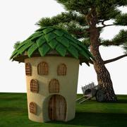 小さなかわいい家 3d model
