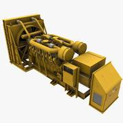 Generador de energía modelo 3d