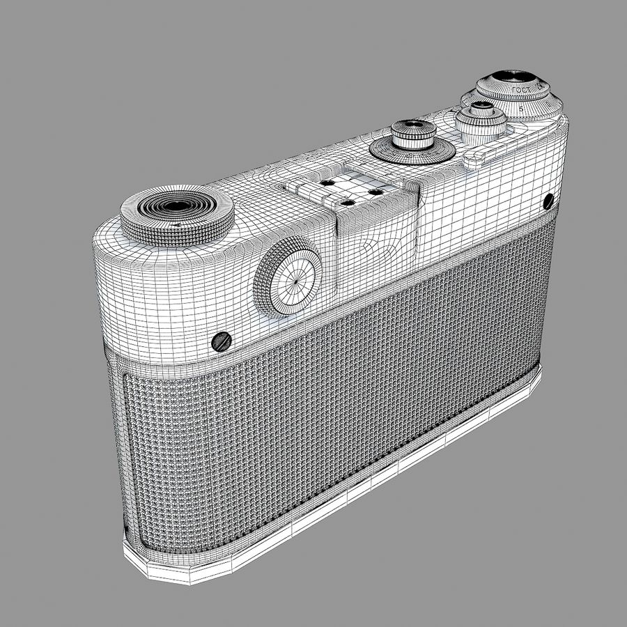 Vintage Camera royalty-free 3d model - Preview no. 8