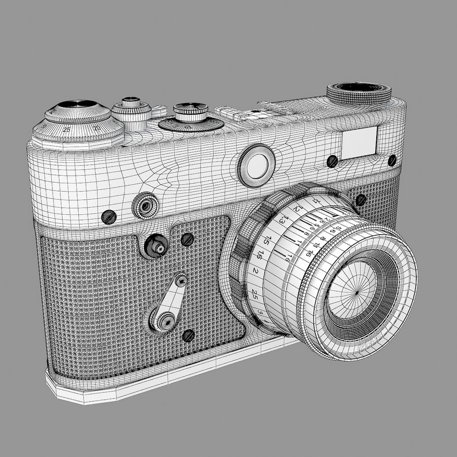 Vintage Camera royalty-free 3d model - Preview no. 6