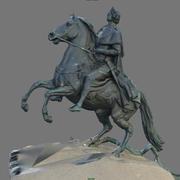 Le cavalier de bronze 3d model