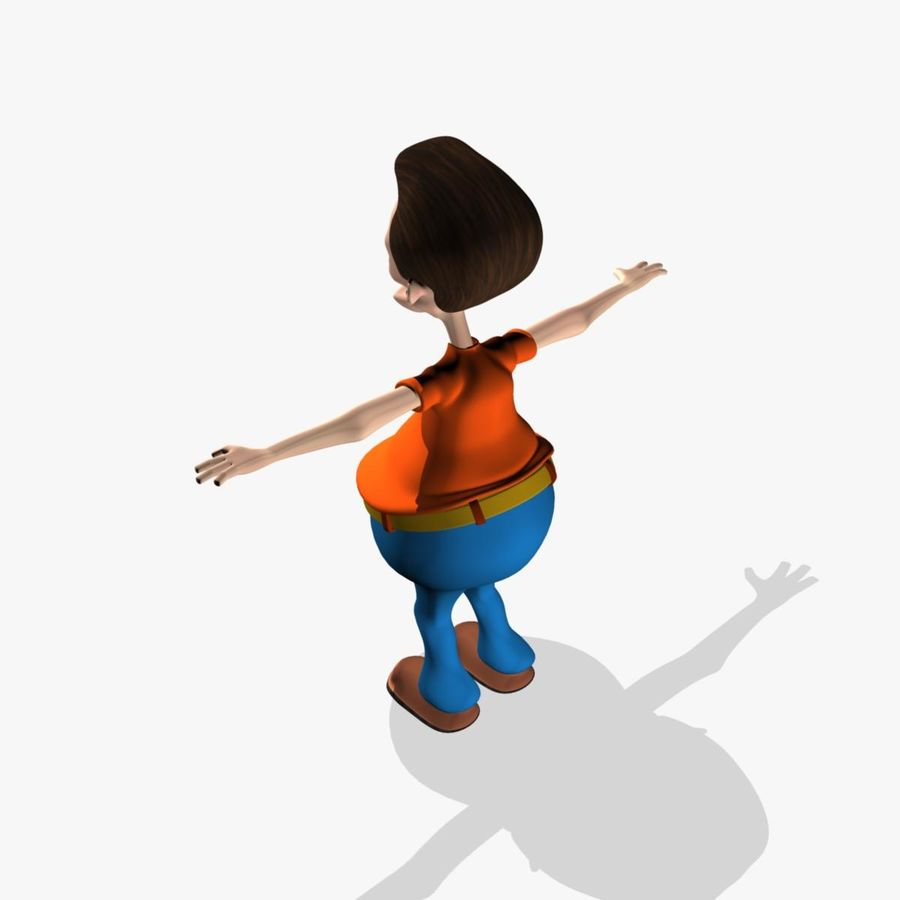 Cartoon Man Character royalty-free 3d model - Preview no. 5