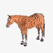 Voxel-Pferd 3d model
