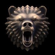 La cabeza del oso modelo 3d