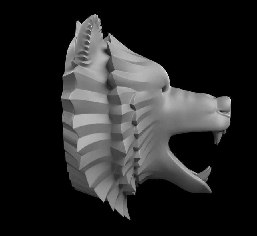 A cabeça do urso royalty-free 3d model - Preview no. 8