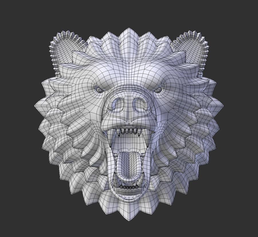 A cabeça do urso royalty-free 3d model - Preview no. 4