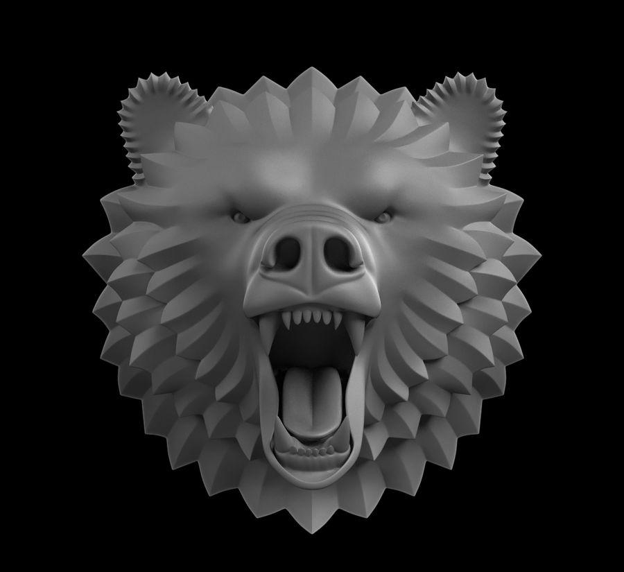A cabeça do urso royalty-free 3d model - Preview no. 2